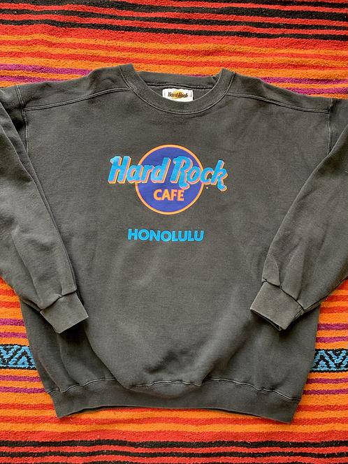 Vintage Hard Rock Cafe Honolulu dark gray sweatshirt size XL