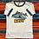 Thumbnail: Vintage Navy graphic ringer t-shirt size small/medium