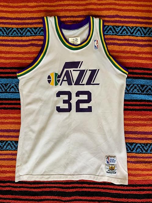 Vintage Royce O'Neale Utah Jazz sand knit jersey size medium/large