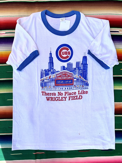 Vintage 1985 Wrigley Field Chicago Cubs ringer t-shirt size L/XL