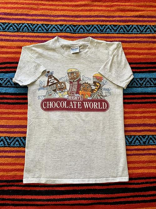 Vintage 1995 Hershey's Chocolate World gray t-shirt size small