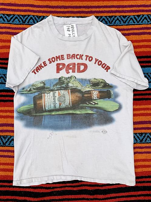 Vintage Budweiser frog T shirt size large