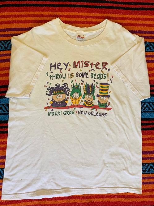 Vintage South Park Mardi Gras T Shirt Size L