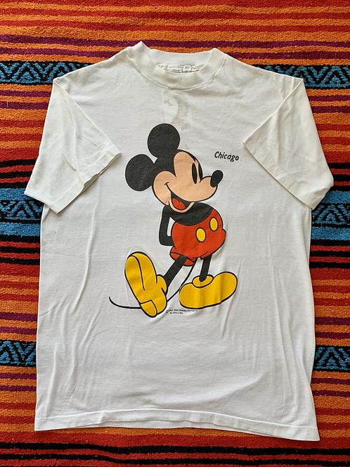 Vintage Disney Mickey Mouse Chicago white t-shirt size medium/large