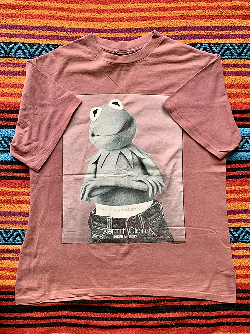 Vintage Kermit the Frog Calvin Klein parody t-shirt size XL