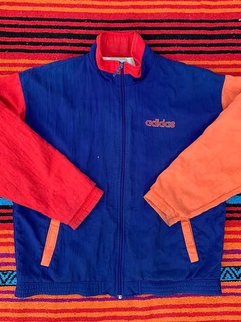 Vintage Color block Adidas windbreaker size Medium