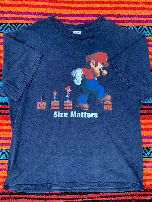 Vintage Super Mario Size Matters t shirt size XL