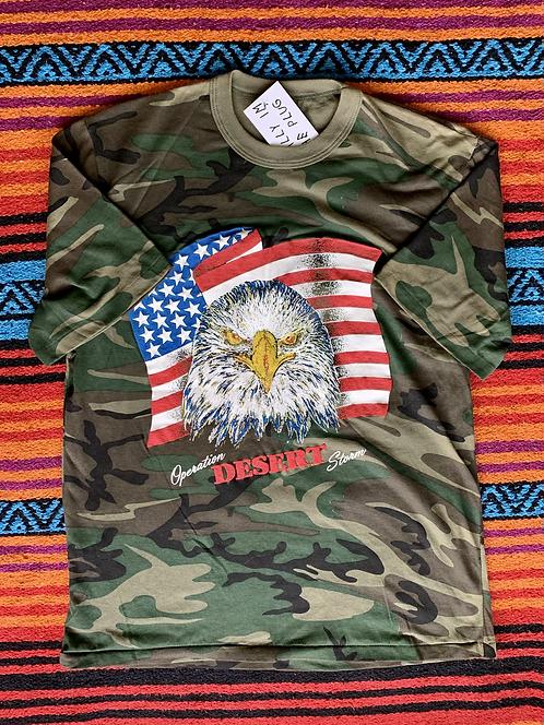 Vintage Operation Desert Storm camo t-shirt size