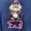 Thumbnail: Vintage 1995 Looney Tunes Taz navy sweatshirt size XXL