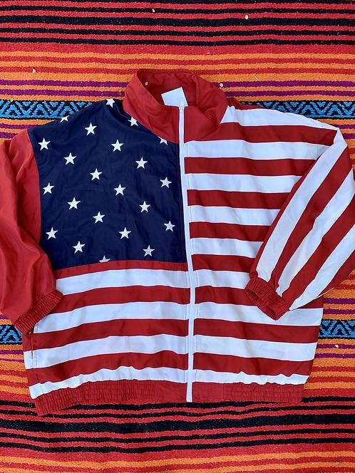 Vintage American flag windbreaker size XL