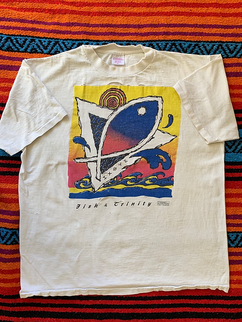 Vintage Fish And Trinity T shirt size XL