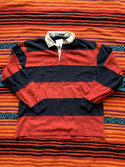 Vintage Ralph Lauren Polo striped rugby shirt size large