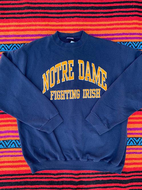 Vintage navy Notre Dame crewneck sweatshirt size XXL