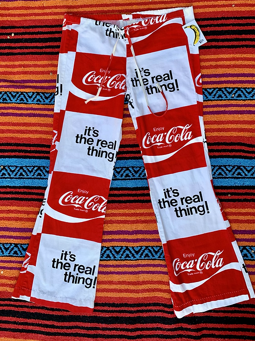 Vintage Coca Cola low-rise flare pants with drawstring size M/L