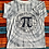 Thumbnail: Vintage all-over print Pi shirt size XL