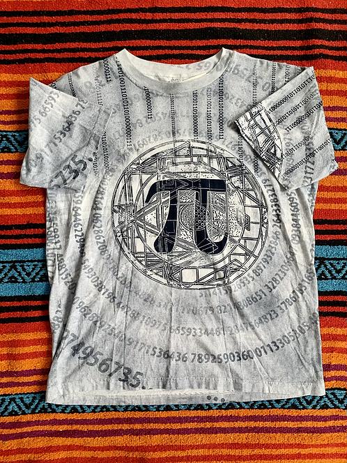 Vintage all-over print Pi shirt size XL
