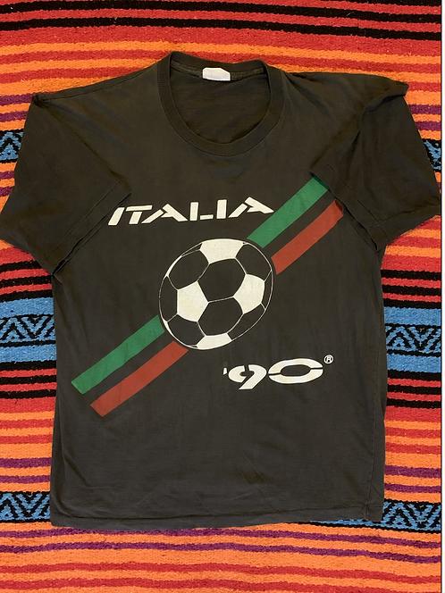 Vintage 90' Italia Soccer Shirt Large