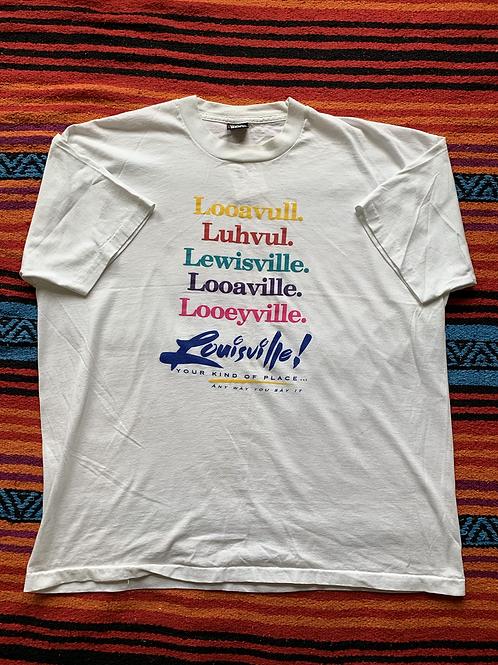 Vintage 90s Louisville KY Tourist white t-shirt size XXL