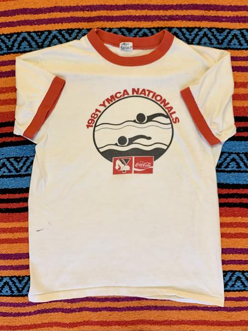 Vintage 1981 YMCA Swimming Shirt Champion Small