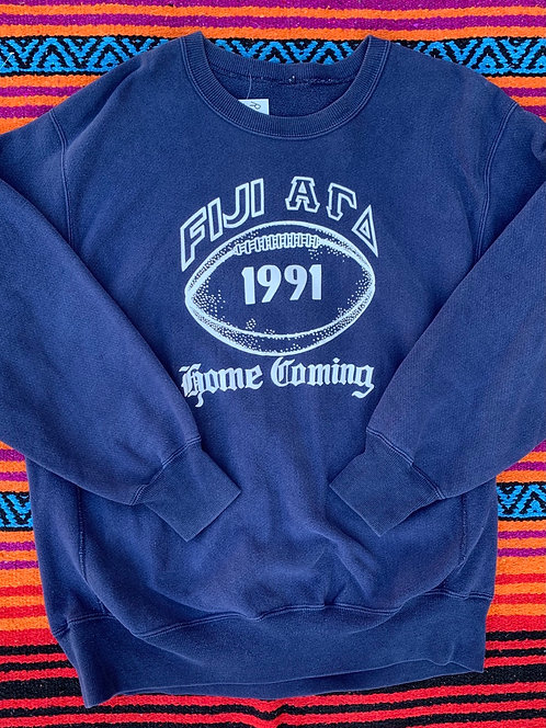Vintage 1991 Fiji Homecoming crewneck sweatshirt size XL