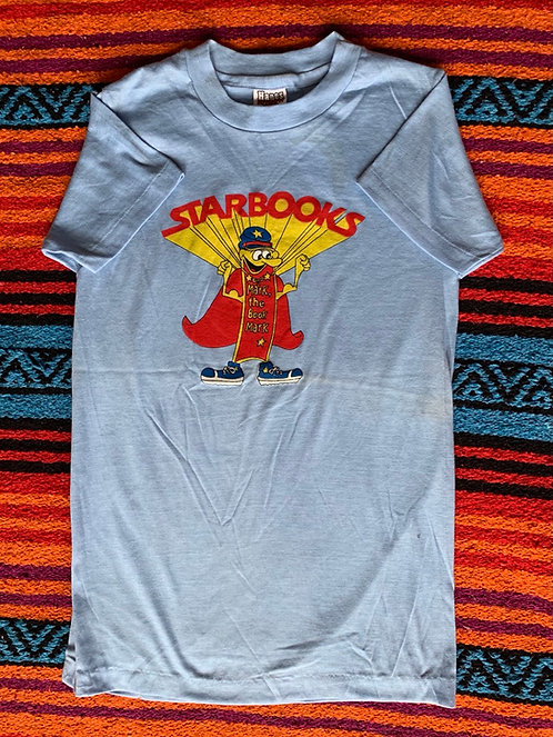 Vintage light blue Star Books T shirt size Medium