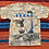 Thumbnail: Vintage Texas map tan tie-dye all-over print t-shirt size large