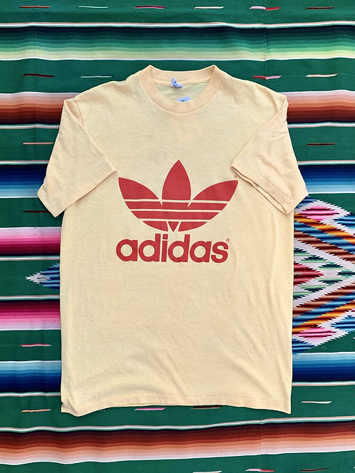 Vintage Adidas yellow tri-blend t-shirt size medium/large