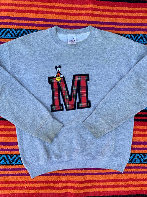 Vintage plaid Mickey Mouse sweatshirt size Large