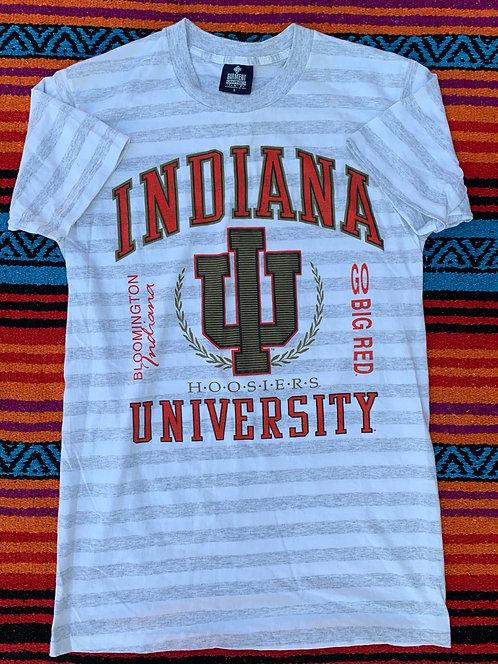 Vintage striped Indiana University T shirt size Large