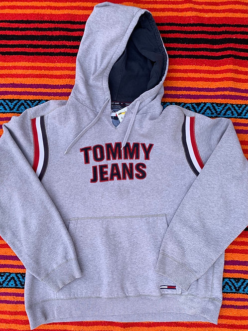 Vintage Tommy Jeans gray hoodie size XL