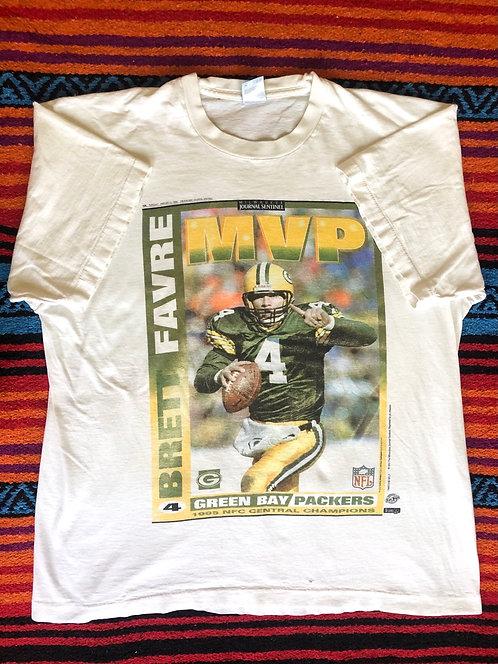 Vintage Greenbay Packers Brett Favre T Shirt Size XL