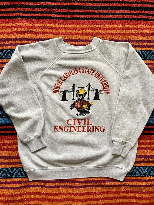 Vintage North Carolina State University Civil Engineering sweatshirt size large