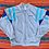 Thumbnail: Vintage gray and blue color-block zip up sweatshirt size large/XL