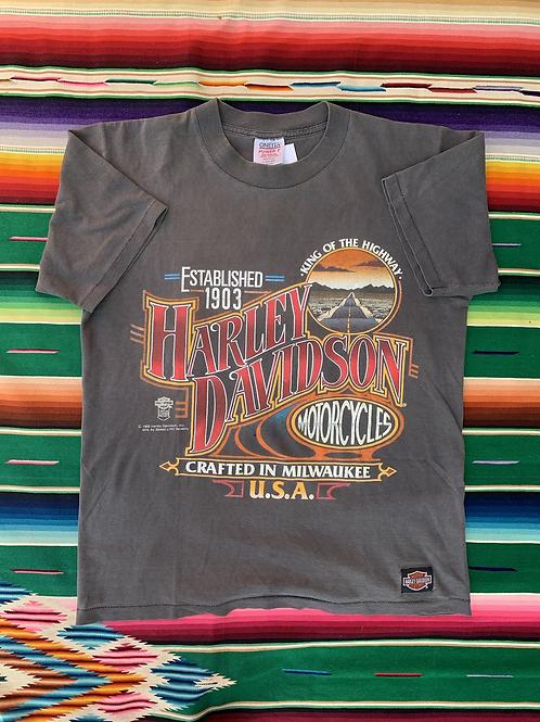 Vintage 1988 Harley Davidson gray t-shirt size large