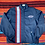 Thumbnail: Vintage striped Chevrolet lightweight racing jacket size large