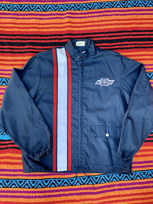 Vintage striped Chevrolet lightweight racing jacket size large