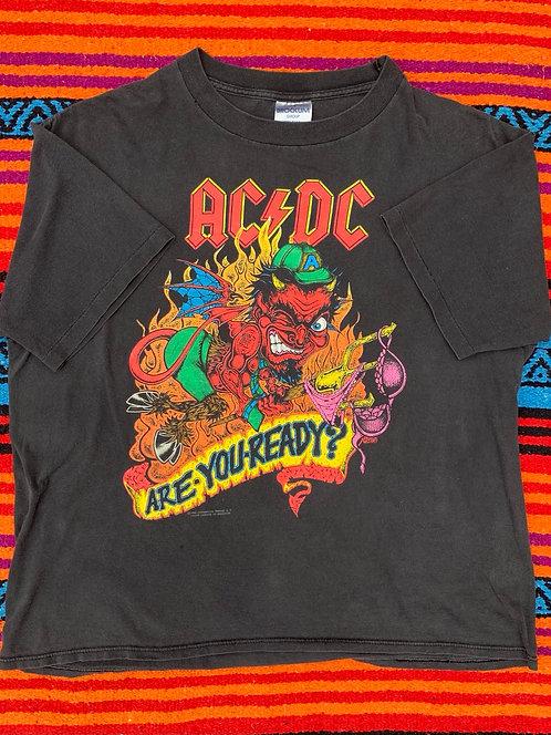 Vintage AC/DC Tour 1990 T shirt size Large/XL