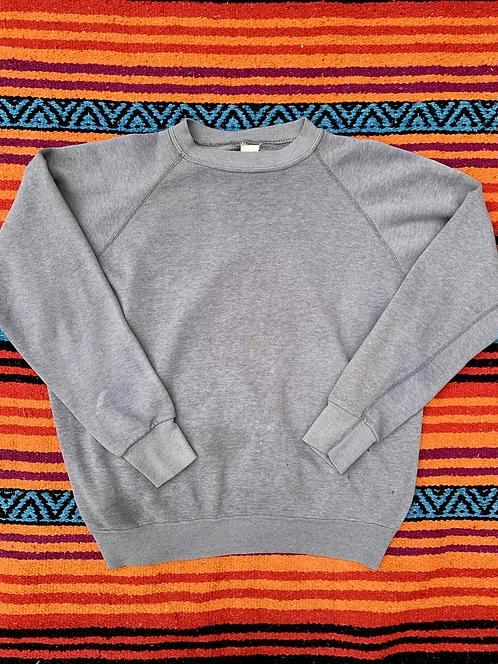 Vintage blank thin gray sweatshirt size medium
