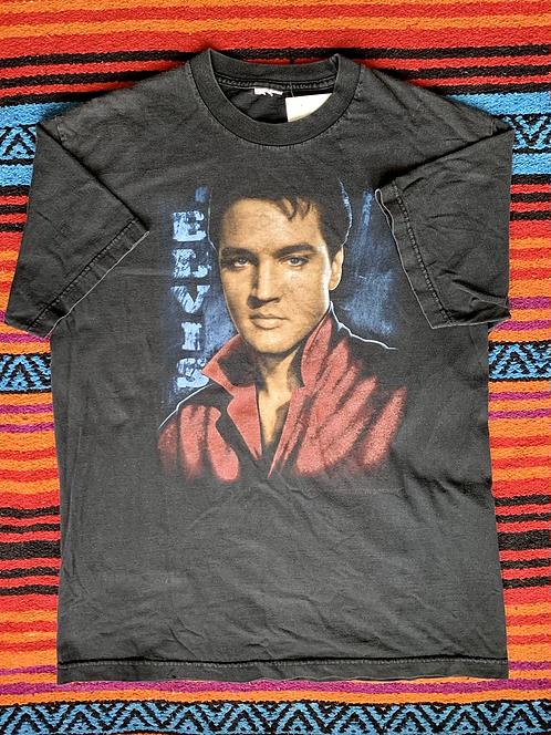 Vintage Elvis Presley faded black t-shirt size large