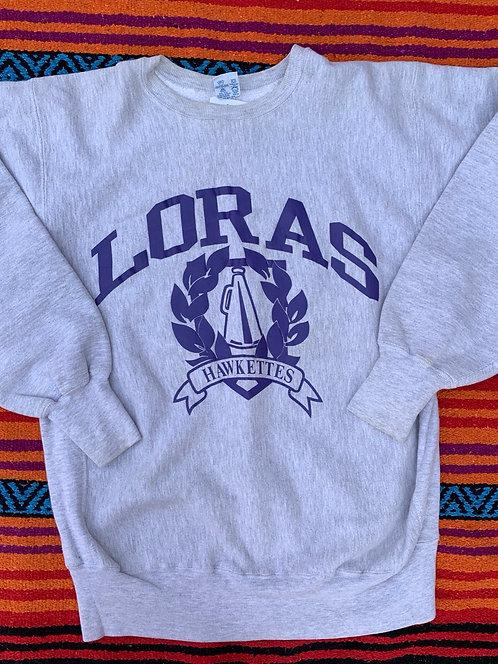 Vintage Champion reverse weave Loras Hawkettes crewneck size XL