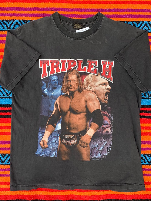 Vintage Triple H WWE T shirt size Large