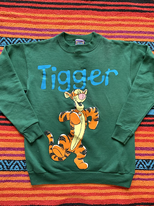 Vintage Disney Winnie the Pooh Tigger dark green sweatshirt size small