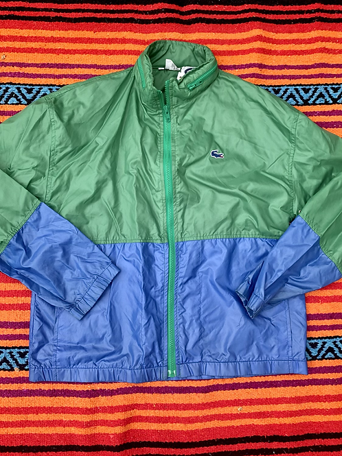 Vintage Izod Lacoste color block windbreaker size small