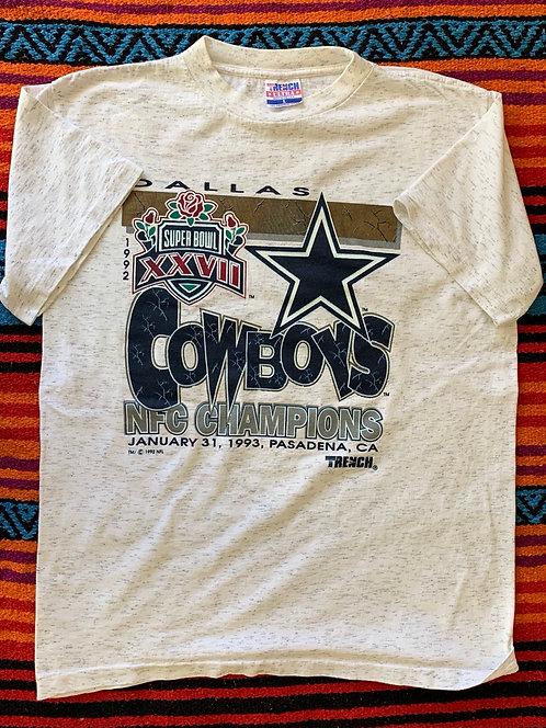 Vintage Super Bowl 1992 Dallas Cowboys T shirt size Large