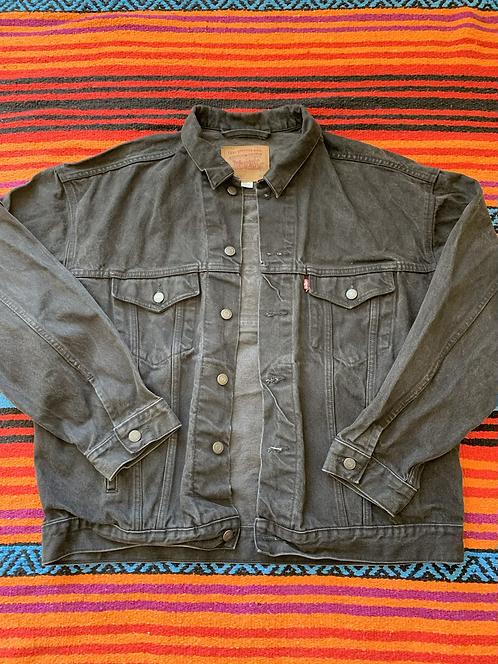 Vintage Black Levi's Red Tab Denim Jacket XL