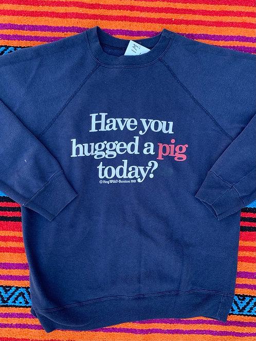 Vintage Hog Wild Boston 1981 sweatshirt size XL