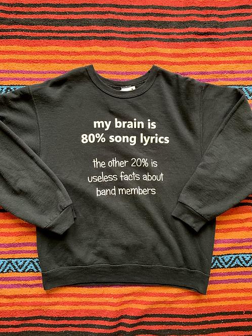 Vintage funny song lyrics sweatshirt size large
