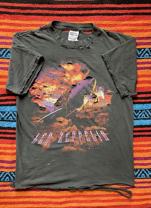 Vintage 1994 Led Zeppelin distressed black t-shirt size large
