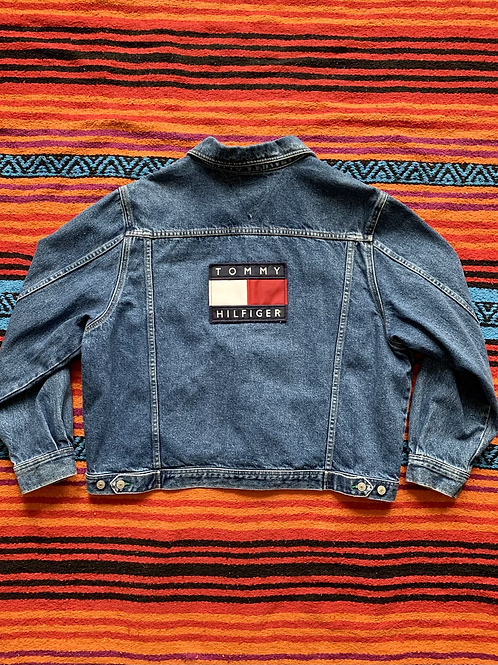 Vintage Tommy Hilfiger Jeans dark wash denim jacket size large/XL