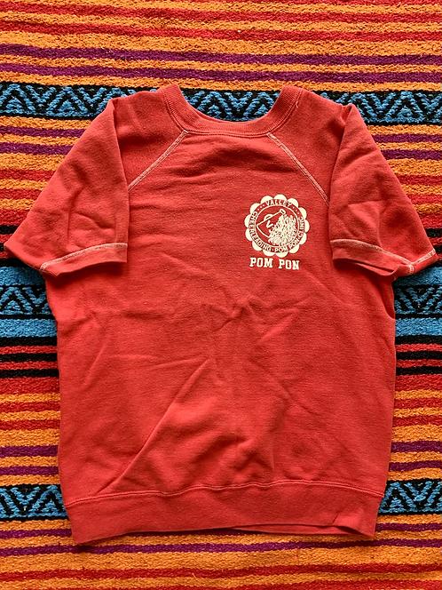Vintage Valley Cheerleading Pom-Pon Clinic short sleeve sweatshirt size medium